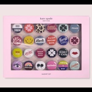 New Kate Spade Actually I Can Magnet Set